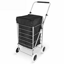 Nouveau 4 Roues Pliable Shopping Mobility Sac à roulettes panier marché linge No...