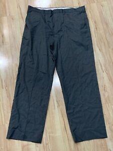 Men's Merona Gray Flat Front Classic Fit Dress Pants Tapered Slacks Size 40x32