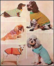 Vintage Knitting Pattern • DOG COATS & SWEATERS • Poodle Dachshund Greyhound Etc