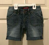 Unionbay Girls Blue Denim Cuffed Jean Shorts Size 8