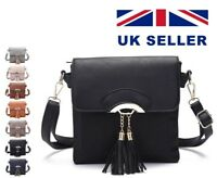 Women's Ladies  Fashion Small Square Tassel Cross Body Shoulder Side Bag Uk