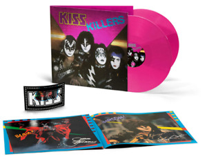 KISS - Killers 180GR Limited Numbered Transparent Pink 2 Vinyl LP Artprint NEU