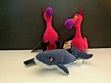 Disney Fantasia Whale, &Flamingo'S Beanie Babies