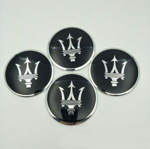 4x 56.5mm Car Accessories Hub Caps For Maserati Wheel Center Covers Logo Emblems