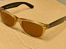 "Ray Ban ""New Wayfarer"" Sunglasses RB2132 945 52-18 Honey / Brown"