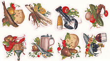 Ceramic Decals Food Drink Seafood Wine Cheese Fruit Delicacy
