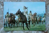 Kino Film Postkarte AK WINNETOU 1960-70s Pierre Brice + Indianer Pferd Karl May