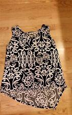 CATO Womens Sleeveless Top Shirt Tank Plus Size Ladies XL Black White GORGEOUS