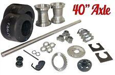 "Drift Trike 1-1/4"" x 40"" Axle Kit w/ #40 Clutch Chain Sprocket Tires Rims Parts"