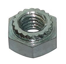 10x écrou héxagonal à sertir M3 5.5mm H3mm acier zingué pour tôle 1mm+