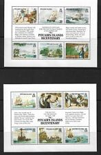 1989 Pitcairn Bicentenary Set of 2 Mini Sheets Complete MUH/MNH as Issued