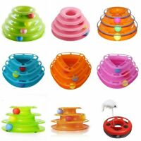 Pet Cat Kitten Crazy Balls Disk Trilaminar Tower Track Amusement Interactive Toy