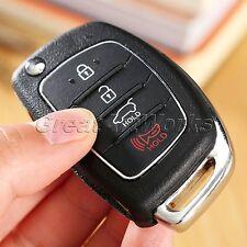 4 Buttons Folding Flip Key Fob Shell Case Replacement for HYUNDAI ix45 Santa Fe
