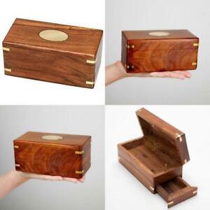 Wooden Secret Enigma Box Brainteaser Puzzle Secret Container Christmas Gift