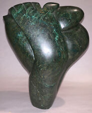 Shona sculpture, the artist's interpretation of The Thinker, signed by artist,