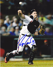 RYAN LAVARNWAY  BALTIMORE ORIOLES     ACTION SIGNED 8x10