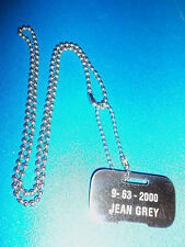 X-MEN JEAN GREY  ID DOG TAG NECKLACE  MARVEL COMICS NEW