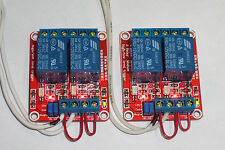 USA! 2 PCS 12 VDC @10 AMP 2-CHANNEL HIGH / LOW LEVEL INPUT RELAY BOARDS