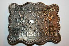 Vintage Western Cowboy 1987 Hesston National Rodeo Finals Belt Buckle RARE