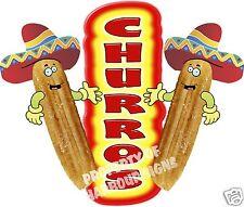 """Churros Decal 14"""" Concession Food Truck Cart Restaurant Menu Vinyl Sign"""