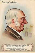 ADVERTISING : 'Quaker Oats  Smiles'-Grandpa's Smile