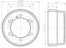 Mintex Rear Brake Drum MBD217  - BRAND NEW - GENUINE - 5 YEAR WARRANTY