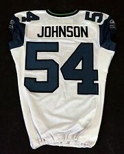#54 Johnson of Seattle Seahawks NFL Game Issued Player Worn Jersey