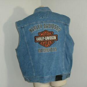 Mens Denim Vest Motorcycle Unlined Biker Plus Size Sleeveless Jean ...