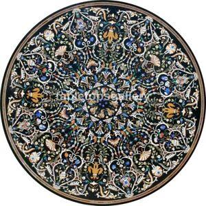 """52"""" Marble Center Dining Table Top Pietra Dura Marquetry Inlay Garden Decor B473"""