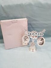 Mr & Mrs Family Tree Silver Metal Freestanding Photo/Picture Frame-New-Gift