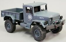 1/16 RC 4WD Truck ROCK CRAWLER Scale MILITARY Truck LED + Suspension -RTR- blue