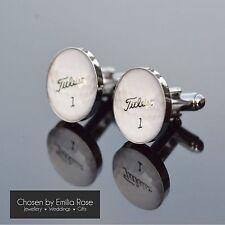 Mens Novelty Golf Ball Titleist Silver Cufflinks Sport Golfer Jewellery Gift New