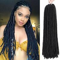 6pack 20'' Black Faux Locs Synthetic Crochet Braids Dreads Locks Hair Extensions