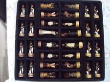 Schach Figuren Napoleon gegen Rußland. 32 Figuren.