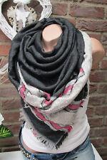 XXL écharpe rayé franges écharpe Plaid à carreaux étole Poncho noir gris écharpe