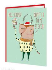 Brainbox CANDY Wildstyle Natale Bello Maglione FUNNY GUFO Fox Animali CARD