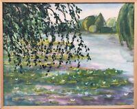H. Feltendal Impressionen im Park - Seerosen #2 Ölgemälde 55 x 70 cm Dänemark