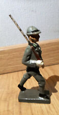 ELASTOLIN LINEOL prewar walking marching Bersaglieri soldier with rifle