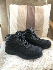 Earth Works safety wear black trainers with reinforced toes uk size 8