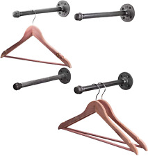 Pipe Decor Industrial Pipe Wall Mounted Clothing Rack Commercial Or Residential
