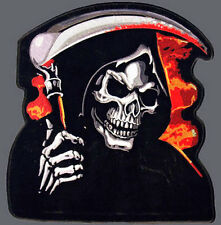 Iron On/ Sew On Embroidered Patch Badge Grim Reaper Reeper Death Die Large