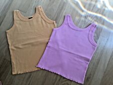Girls Gap Kids Lot of Two Pink and Orange Cotton Tank Tops Size XS/S