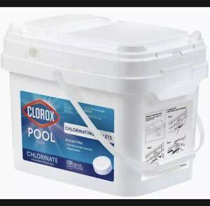 "Clorox Pool & Spa Chlorinating Tablets 3"" Chlorinate 25 Lbs Bucket Swimming Pool"