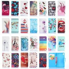 Pattern Stand Flip Wallet PU Leather Case For Sony Xperia Z1 L39H Z3 mini C3 Z4