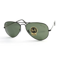 Ray Ban RB3025 L2823 Aviator Black/Green G15 Sunglasses Size 58