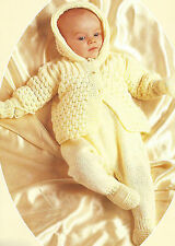 772 18-20/'/' Leggings Helmet Knitting Pattern for Baby Jacket Bonnet