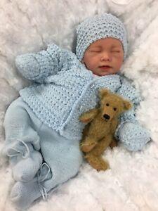 REBORN BOY HEAVY VALUE BABY FIRST REBORN SPANISH SET PLUS MAGNETIC DUMMY E