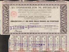 AUTOMOBILES M. BERLIET (LYON 69) (O)