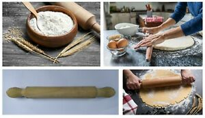 WOODEN ROLLING PIN for Pastry Baking Icing Fondant Cake Pizza Decorating Roller