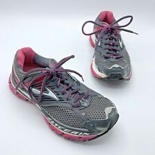 Brooks Glycerin 10 Women Gray Pink Running Shoe Size 7 EUR 38 Pre Owned